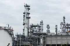Oil refinery and Petroleum industry at day time Stock Images