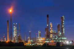 Oil refinery or petroleum refinery industry in industrial estate Stock Photo