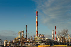 Oil refinery plant Royalty Free Stock Image