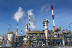 Oil refinery plant Stock Images
