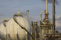 Oil-refinery plant Stock Photos