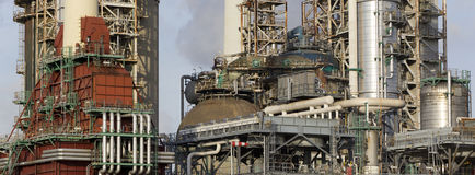 Oil-refinery plant Stock Photo
