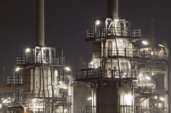 Oil-refinery plant Royalty Free Stock Photo