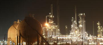 Oil-refinery plant Stock Images