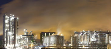 Oil-refinery plant Stock Photography