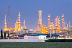 Oil Refinery Plant Royalty Free Stock Photography