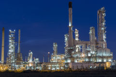 Oil refinery plant against Stock Photography