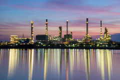 Oil refinery plant area Stock Photos