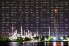 Oil refinery plant, Crude oil stock price index Stock Photography