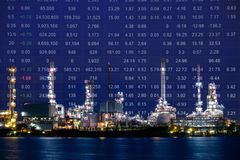 Oil refinery plant, Crude oil stock price index Stock Photo