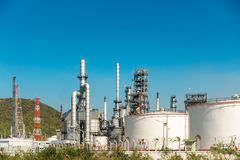 Oil refinery plant at daylight scene, Oil and Gas Royalty Free Stock Photo