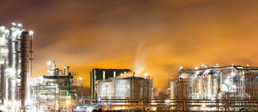 Oil-refinery plant Royalty Free Stock Image
