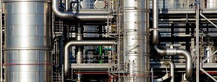 Oil-refinery plant Stock Photo
