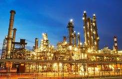 Oil refinery plant or factory royalty free stock photography