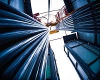 Oil-refinery plant Stock Photos