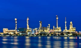 Oil refinery plant Stock Photo