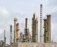 Oil refinery plant Royalty Free Stock Photo