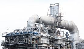 Oil refinery plant machine part Stock Photography