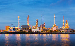 Oil refinery plant Stock Photos
