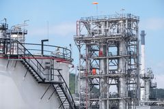 Oil refinery plant royalty free stock photos