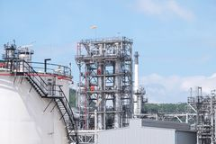 Oil refinery plant pipeline close up royalty free stock photo