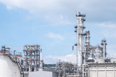 Oil refinery plant. Power and energy. Petroleum, Petrochemical concept Royalty Free Stock Photo