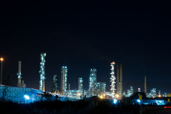 Oil Refinery plant with Power generator Royalty Free Stock Images