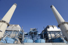 Oil refinery plant processing factory Royalty Free Stock Photography