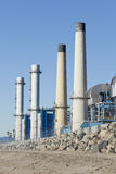 Oil refinery plant processing factory Royalty Free Stock Photos