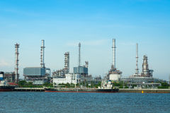 Oil refinery plant on sunny day. Royalty Free Stock Images