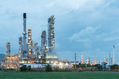Oil refinery plant tower Royalty Free Stock Photo