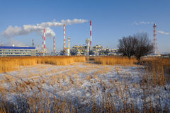 Oil refinery plant at twilight morning Royalty Free Stock Photography