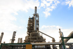 Oil refinery power and energy factory. Refinery power and energy factory Royalty Free Stock Image