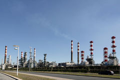 Oil refinery and powerplant Stock Image
