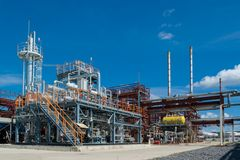 Oil refinery, processing plant Stock Photography