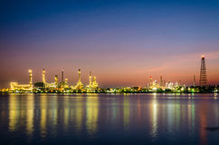 Oil refinery. Ptt oil refienery at twilight Stock Photography