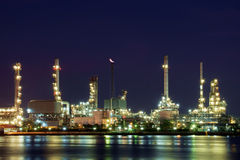 Oil refinery. Royalty Free Stock Photos