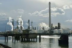 Oil refinery in rotterdam Royalty Free Stock Image