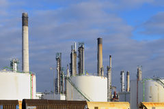 Oil refinery in rotterdam Netherlands Royalty Free Stock Photography