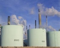 Oil refinery in Sarnia, Canada stock photography