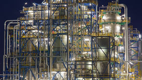 Oil refinery Schwechat in Austria Stock Images