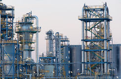 Oil refinery Schwechat in Austria Stock Photos