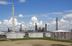 Oil Refinery and Silos Stock Images