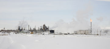 Oil Refinery in Sinclair Wyoming. royalty free stock photo