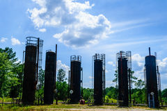 Oil refinery. In the southern landscape Royalty Free Stock Images
