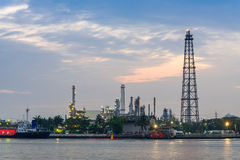 Oil refinery station Stock Image