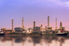 Oil refinery station Royalty Free Stock Photo