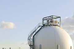 Oil refinery and storage tanks Royalty Free Stock Images