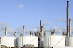 Oil refinery and storage tanks Royalty Free Stock Photography
