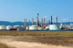 Oil refinery and storage tanks in Israel Stock Images
